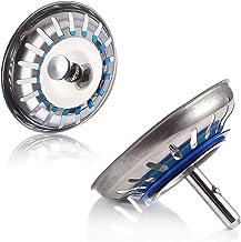 2 Stks Rvs Sink Strainer Plugs Plug Hole Hair Catcher Drain Filter Basket Strainer Met Wastafel Stopper Sink Filter Keuken...