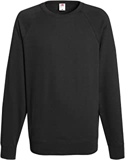 Fruit of the Loom Men's Raglan Sleeve Crew Neck Sweatshirt