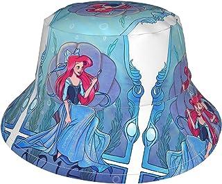 Lsjuee - Berretto regolabile per bambini, con sirena, per bambini, con cappello da spiaggia, con tesa larga