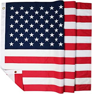 DLORY 4x6 FT American Flag Deluxe Long Lasting Outdoor US Flag Fade Resistant Embroidered Stars and Sewn Stripes USA Flag