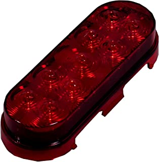 """Maxxima M63322R Lightning Series Red  LED 6"""" Oval Stop Tail Turn Light"""