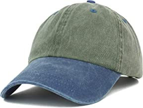 Trendy Apparel Shop Low Profile Unstructured Pigment Dyed Two Tone Baseball Cap