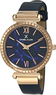 Daniel Klein Womens Quartz Watch, Analog Display and Leather Strap DK12071-5