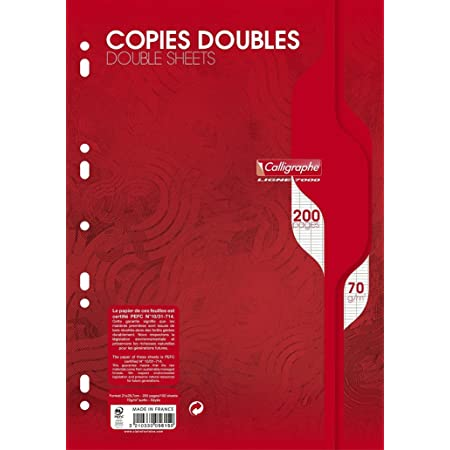 Oxford 100107291 Cahier de 50 Feuilles simples petits carreaux 5 x 5 Hamelin