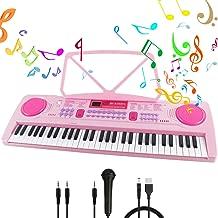 TopBau Mikrofon Kinder Karaoke Mikrofon Spielzeug mit 2 Mikrofone und Einstellbarer St/änder f/ür Kidi Super Star 45-95cm