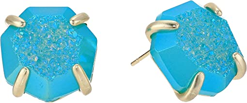 Gold/Bright Aqua Drusy