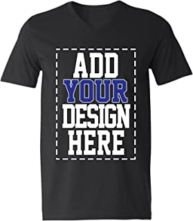 Custom V Neck T Shirts for Men - Make Your OWN Shirt - Add Your Design Picture Photo Text Printing