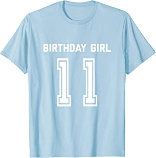 11th Birthday Shirt Gift Age 11 Year Old Girl Girls Daughter