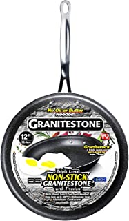 GRANITESTONE Non-stick, No-warp, Mineral-enforced Frying Pans PFOA-Free As Seen On TV (12-inch)
