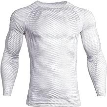 Homyl Herren Kompressionsshirt Langarm Base Layer Funktionsshirts Laufshirt Schnelltrocknend Tee Shirt Fitness Gym Sportwear