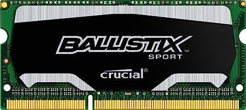 Crucial Ballistix Sport SODIMM 4GB Single DDR3 1600 MT/s (PC3-12800) CL9 @1.35V 204-Pin Memory BLS4G3N169ES4