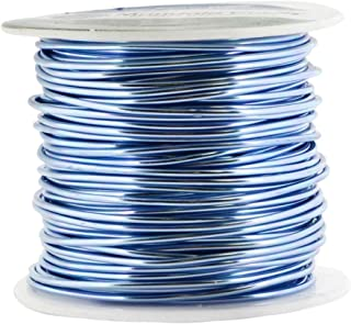 Mandala Crafts Anodized Aluminum Wire for Sculpting, Armature, Jewelry Making, Gem Metal Wrap, Garden, Colored and Soft, 1 Roll(16 Gauge, Ice Blue)