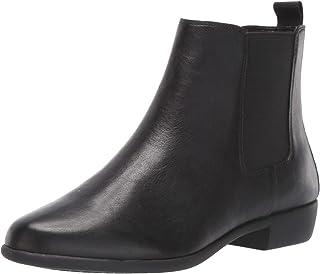 حذاء برقبة للكاحل للنساء من Aerosoles للسيدات، جلد أسود، مقاس 9 W US