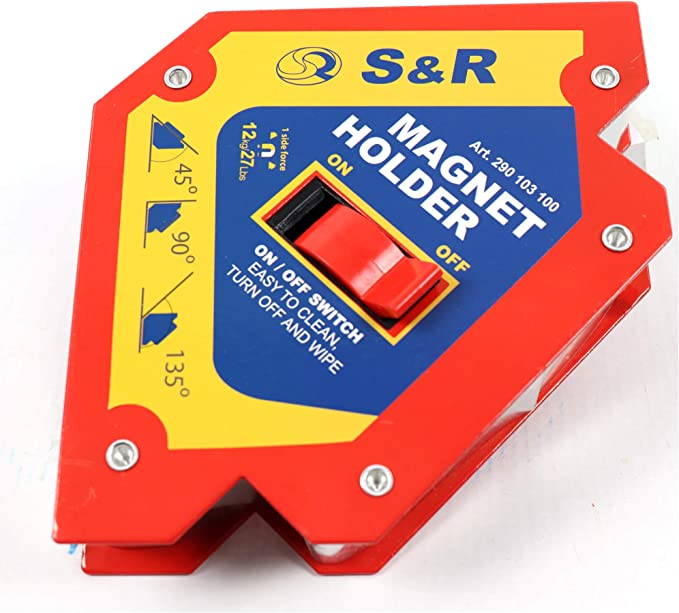 305 opinioni per S&R Magnete per Saldatura a squadra attivabile ON OFF – Posizionatore magnetico