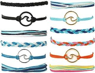 Starain VSCO String Wave Bracelet for Women Girls Boho Handmade Waterproof Adjustable Braided Beach Bracelets Set