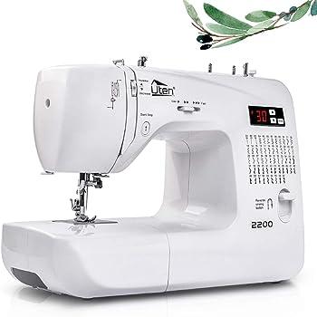 Uten Máquina de Coser Portatil Electrica 60 Puntadas maquina coser manual con Luz de LED