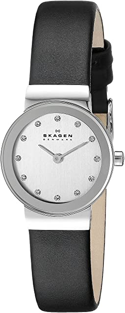 Skagen 358XSSLBC Steel Collection Leather Glitz Watch