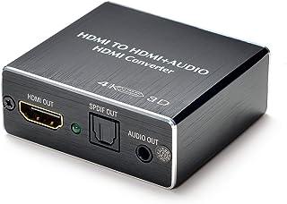Ultra HD 4K x 2K HDMI Naar HDMI (SPDIF + 3,5 mm) Audio Extractor Ondersteuning TOSLINK Optische Audio-Uitgang + 3,5 mm Aud...