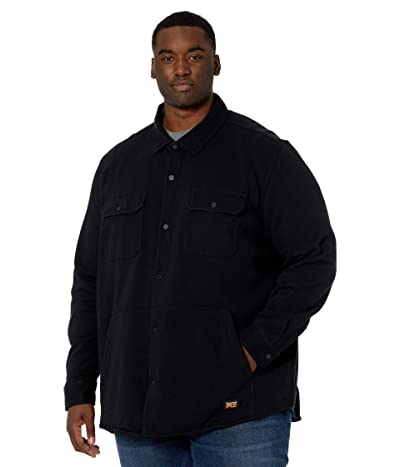 Timberland PRO Extended Mill River Fleece Shirt Jacket (Jet Black) Men