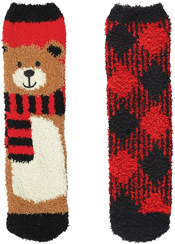All stores are sold HollyDel Christmas Socks and Scarves; Bear Fuzzy Adult All items free shipping Plaid S