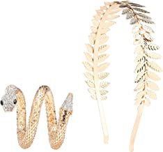 Bridal Hair Crown Head and Snake Arm Cuff Costume Dress Accessory Set