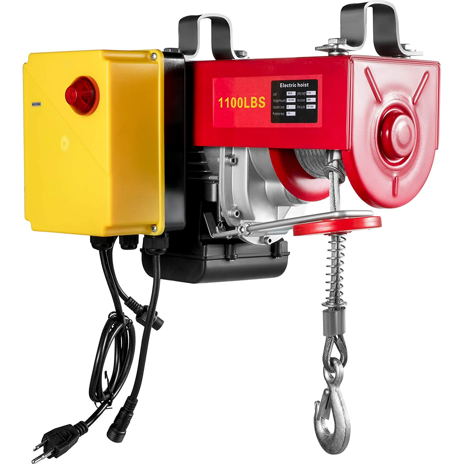 Cheap mail order shopping VEVOR 1100LBS Electric Hoist with Wireless Sing low-pricing Control Remote