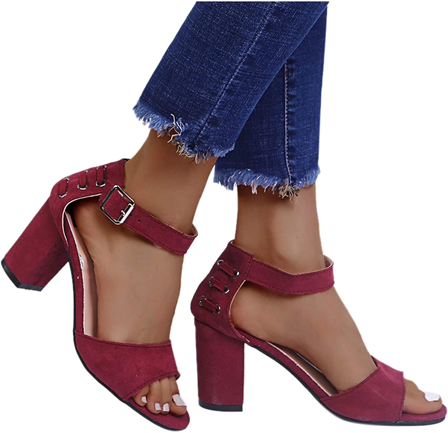 Hgndbloo Financial sales sale High Platform Sandals New Shipping Free Chunky Heels Slippers Pointed Toe