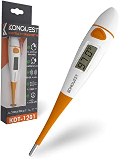 Konquest KDT-1201 Best Digital Medical Thermometer, Highly Accurate and Fast, Easy to Use, 10 Second Reading. Detect Fever...