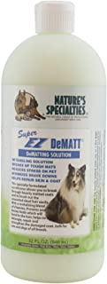 Nature's Specialties Detangling Dog Conditioner for Pets, Concentrate 12:1, Made in USA, Super EZ DeMatt, 32oz