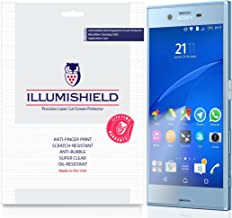 iLLumiShield Screen Protector Compatible with Sony Xperia XZs (3-Pack) Clear HD Shield Anti-Bubble and Anti-Fingerprint PET Film