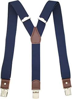 MENDENG Suspenders for Men Adjustable Braces Strong Clip Y Back Suspender Formal