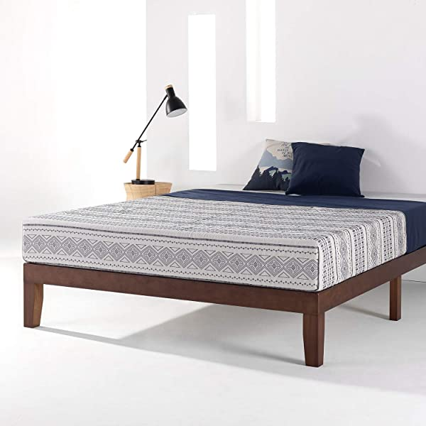 Mellow 12 Classic Soild Wood Platform Bed Frame W Wooden Slats No Box Spring Needed Twin Espresso