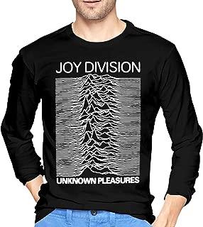 JeremiahR Men's Joy Division Unknown Pleasures Long Sleeve T-Shirts Black