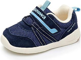 Ahannie Bébé Filles Garçons Souple Cuir Baskets,Chaussures de Fitness Mixte bébé,Chaussures Premiers Pas bébé Filles Garçons
