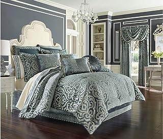 """J. Queen New York """"Sicily"""" Comforter Set in Teal, Queen"""