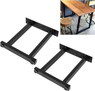 Lot de 2 pieds de table, design industriel, noir, set de table, pieds de table, pieds de table, en métal, accessoires de t...