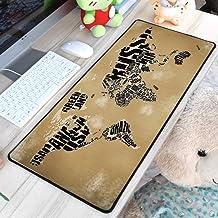 WHFDSBD30X60//40X90Cm Large Big Gaming Mousepad Black Mouse Pad Lock Edge Laptop Pc Game Gamer