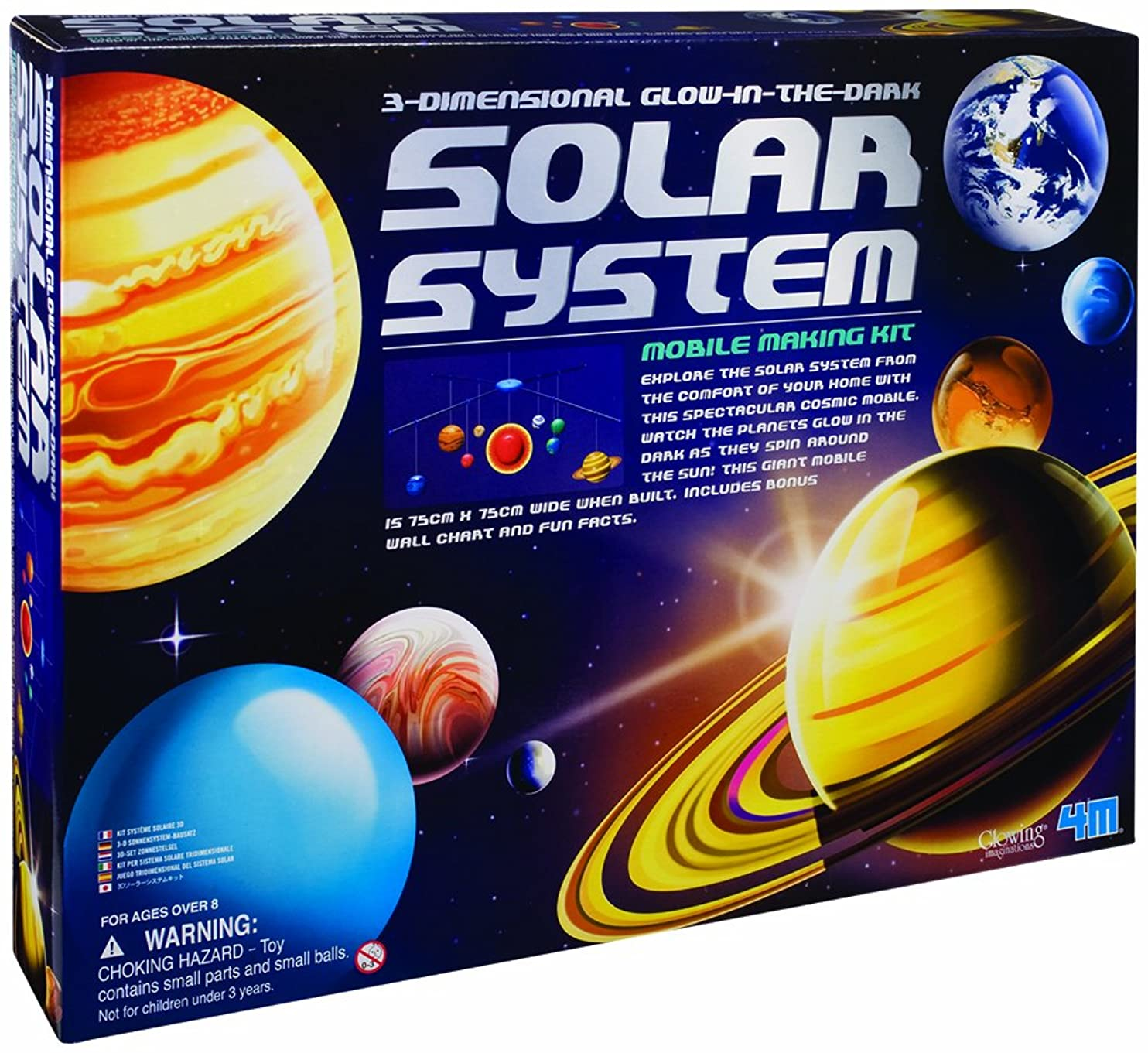 4M 3-Dimensional Glow-In-The-Dark Solar System Mobile Making Kit zbanzfuvoyp28