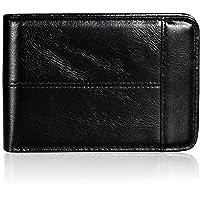 Mokzer Slim Genuine Leather Thin Bifold Mens Wallet