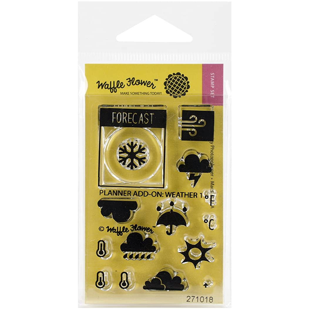 Waffle Flower Crafts Clear Planner Add On: Weather 1 Stamps, 2 x 3