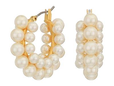 J.Crew Perla Cluster Hoop Earrings (Pearl) Earring