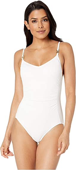 Radiant Chain Solids Logo Chain Over the Shoulder One-Piece