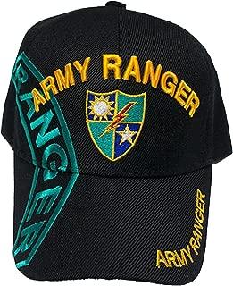 U.S Warriors Men's Army Ranger Black Hat Official Licensed Military Baseball Cap