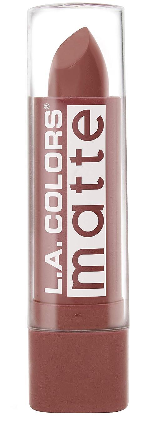 お勧め通信する大騒ぎL.A. COLORS Matte Lip Color - Caramel Cream (並行輸入品)