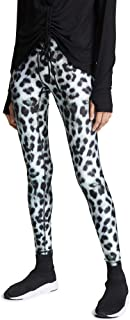 Terez Women's Snow Leopard Tall Band Leggings