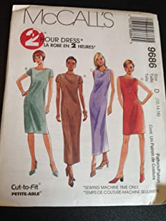 McCall's 9686 Sewing Pattern, Misses' Dress in Three Lengths, Size D (12,14,16)