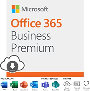 Microsoft Office 365 Business Premium   12-month subscription, 1 person, PC/Mac Download