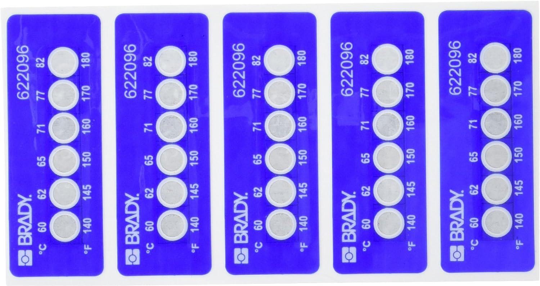 Brady TIL-6-60C/140F 60C/140F Temperature-Indicating Label, Poly