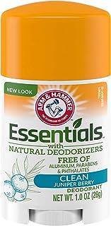 ARM & HAMMER Essentials Deodorant with Natural Deodorizers Clean, 1.0 oz.