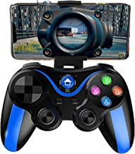Upgraded Mobile Controller for The Most Games, Mobile Gamepad Wireless Game Controller Joystick for Android/iOS/iPhone/iPad, Key Mapping, Shooting Fighting Racing Game (Blue-Black)